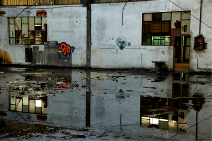 flooded factory
